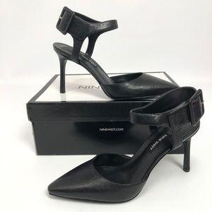 Nine West Shoes - Nine West Womens Elisabeti Pumps Black Leather 7M